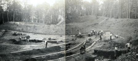 Wykopaliska na grodzisku w 1937r. fot. Mirosław Hoffmann