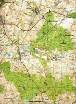 Mapa lokalizacyjna - Kamienie Wilhelma - Andrzej Czapliński